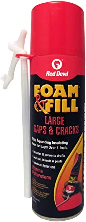 Red Devil 0908 Foam & Fill Large Gaps & Cracks Polyurethane Foam Sealant 8 oz Off