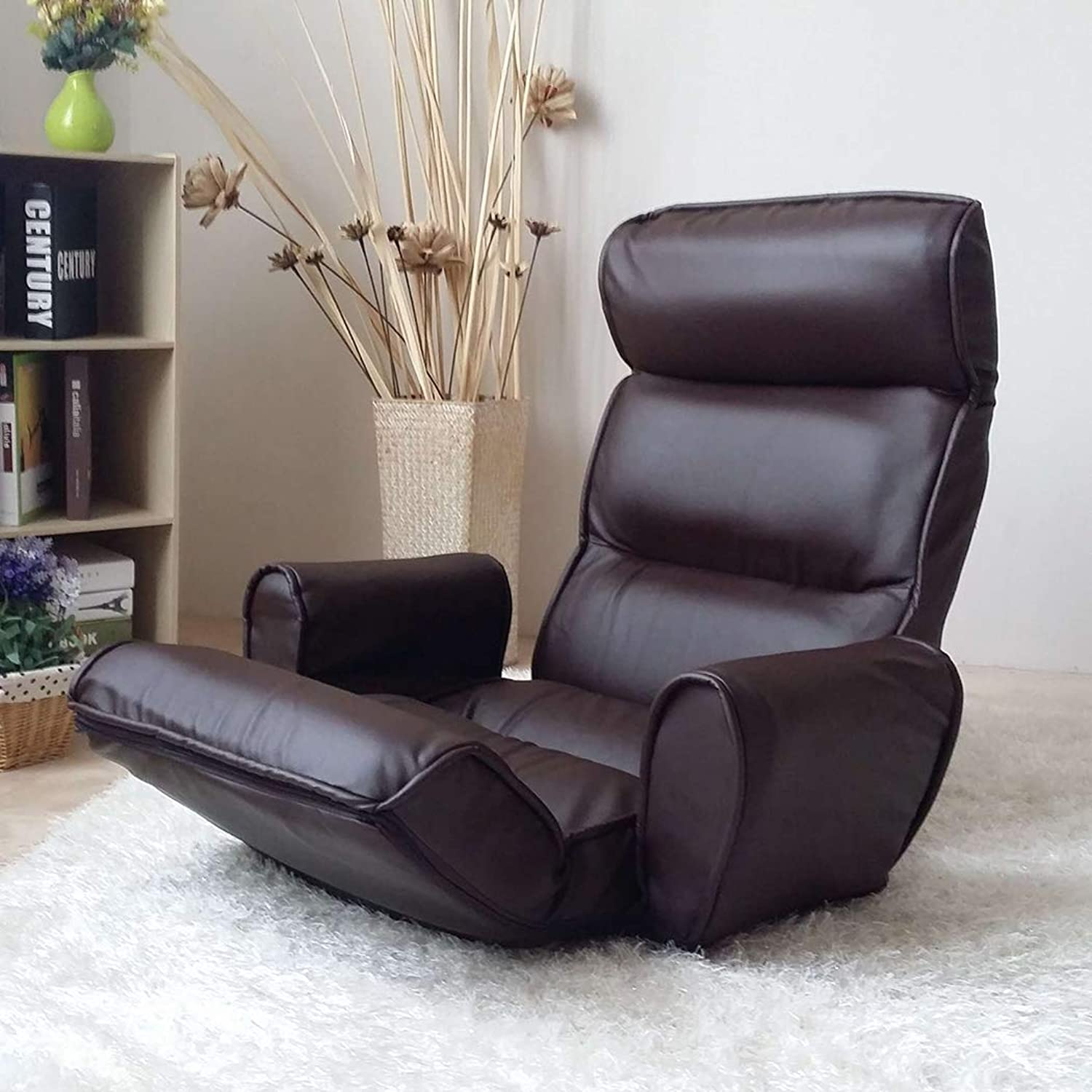Lovicool Lazy Couch Folding Chair Bedroom Computer Chair Small Sofa Window seat Folding Chair Longer Washable Lounge Chair