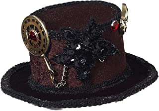 Women's Steampunk Victorian Mini Top Hat Costume Accessory