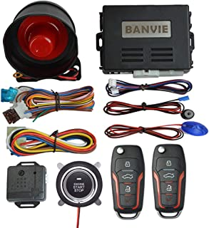 BANVIE System سیستم دزدگیر ورود بدون کلید اتومبیل St راه انداز راه اندازی موتور از راه دور But دکمه کیت فشار دادن برای شروع فشار