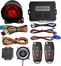 $47 » BANVIE ① Car Keyless Entry Security Alarm System + ② Remote Engine Start Starter + ③ Push to Start Stop Iginition Kit Button