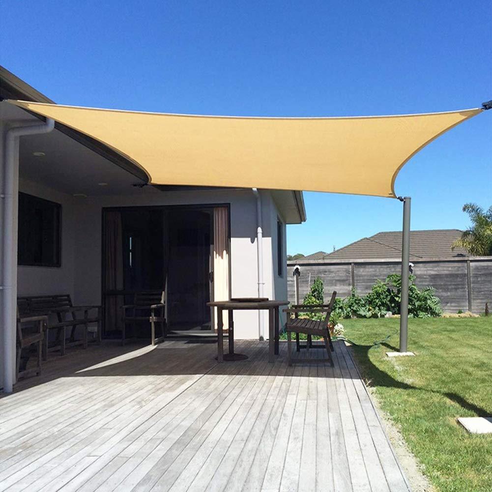 WZHIJUN Dom Vela de Sombra 3 × 4m Rectángulo Beige Sombrilla, 95% Anti-UV Muy Adecuado Intemperie Terraza Jardín Decoración (Color : Beige, Size : 4×6m): Amazon.es: Hogar