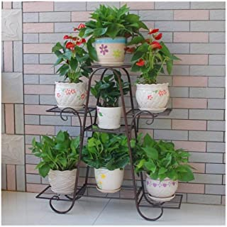 Flower stand Flower Stand7 Layer Iron Metal Stand Frame Plant Flower Pot Stable Plant Stand Support Solid Garden Storage S...