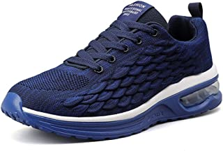 No.66 TOWN Men's Breathable Air Cushion Flying Weaving Mesh Athletic Running Walking Gym Shoes Casual Sneakers