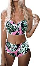 Mujer Conjunto Bikini Bathing Suit Acolchado Hacer Subir Sostén Traje de Baño Swimwear Ropa de Playa
