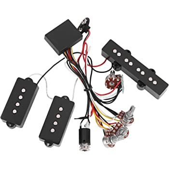 Amazon.com: SolUptanisu Bass Pickup Guitar Wiring Harness Electric Bass  Preamp Wiring Circuit Pickup Replacement Accessory for Bass Guitar Active  Equalizer: Musical InstrumentsAmazon.com