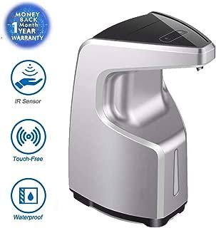 Hengmo Automatic Soap Dispenser Touchless, Auto Hand Free Dish liquid dispenser Kitchen Bathroom -450ml 15 oz/Adjustable Soap Volume/ /Infrared Motion Sensor /Wall Mounted Soap Dispenser(Silver)