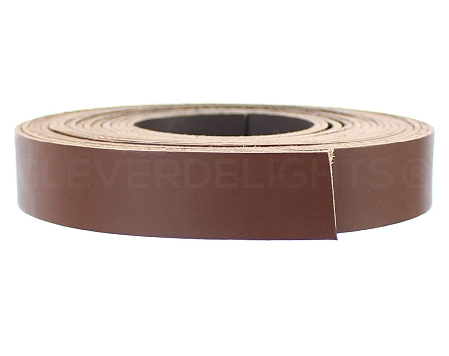 CleverDelights Premium Cowhide Leather Strap - Brown - 1