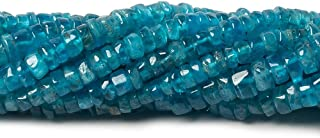 4.5-5mm Neon Blue Apatite Heshi Beads 13 inch 130 pieces