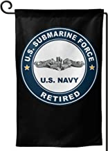 BJHYQSMQ US Submarine Force Retired Garden Flag,Decorative Yard Flag