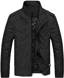 UJUNAOR Men Coat Parka Jacket Jumper Winter Warm Print Faux Fur Fluffy Jumpers Fashion Solid Hooded Outerwear Down Coat
