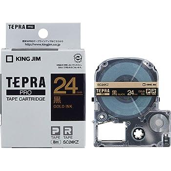 キングジム テープカートリッジ テプラPRO 24mm SC24KZ 黒 金文字