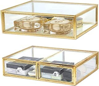 InnSweet Glass Makeup Drawer and 2 Jewelry Drawers Bundle