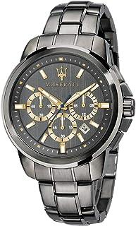 Orologio da uomo, Collezione Successo, con movimento al quarzo e funzione cronografo, in acciaio e PVD canna di fucile - R...