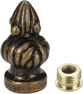 lamp finial thread size