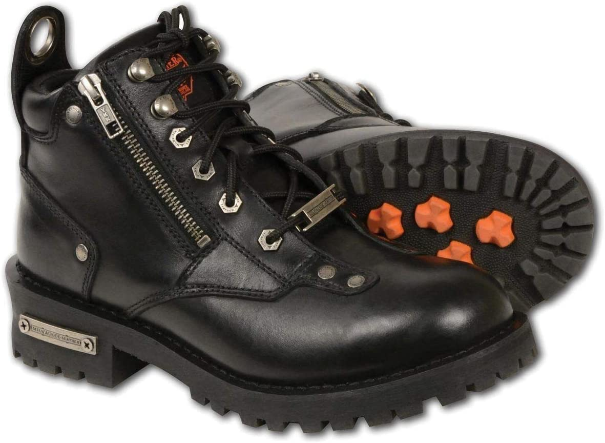 Milwaukee Leather Oakland Mall MBL9335 Women's Black Cut Minneapolis Mall Low Lace-Up