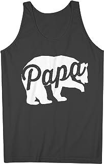 Papa Bear Father Dad 男性用 Tank Top Sleeveless Shirt