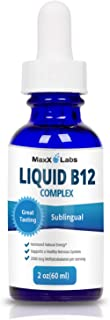 BEST Vitamin B Complex Liquid ★ New Vitamin B12 Sublingual Drops ★ Advanced Energy Formula Combines B2 (Riboflavin) - B9 (Folic Acid) - B12 (Methylcobalamin) - Gluten & Allergens Free - 60 Servings