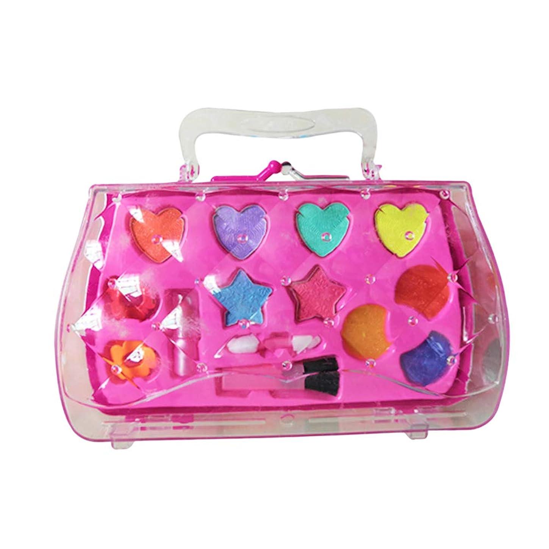 倉庫博物館妖精Toyvian 女の子はおもちゃのセットを作る化粧品キットの口紅アイシャドーブラシ子供のためのおもちゃを作る女の子(ピンク)