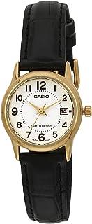 Casio Womens Quartz Watch, Analog Display and Leather Strap LTP-V002GL-7BUDF