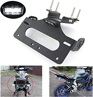 FZ 07 tail tidy, Fender Eliminator for Yamaha FZ-07 2014 2015 2016 2017 2018 2019, with LED License Plate Light, Compatible with OEM/Stock Turn Signal