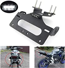 FZ 07 MT 07 tail tidy, Fender Eliminator for Yamaha FZ-07 MT-07 2014 2015 2016 2017 2018 2019, with LED License Plate Light, Compatible with OEM/Stock Turn Signal