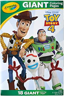 Crayola - 18 Gaint Coloring Pages Toy Story 4