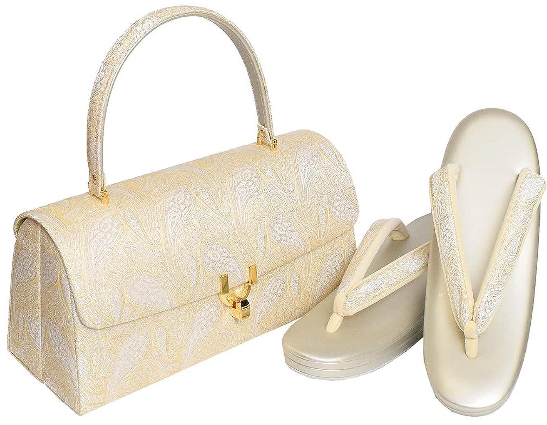 ふさわしい重さ哲学的和ごころきもの屋 [大阪ぞうり] 高級草履バッグセット【F/L 】 日本製 3枚芯 和装バッグセット フォーマル 礼装 フリーサイズ Lサイズ bagset124