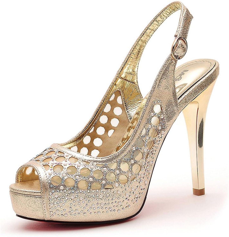 WANGXIAOLIN Platform High-heeled Sandals Versatile With Women's Sandals ( color   gold , Size   36 )