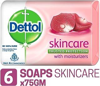 Dettol Bathing Soap Skincare, 75gm, Pack of 6