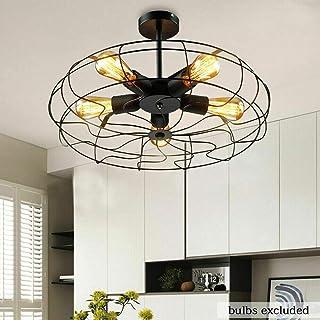 Lámpara de techo lámpara industrial retro industrial 5 bombilla ventilador lámpara E27