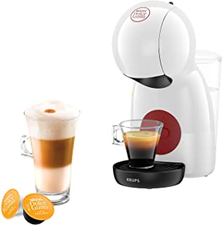 Krups Nescafé Dolce Gusto Piccolo XS blanche Machine à café Ultra compact Cafetière a dosette Multi-boissons Intuitive Pre...