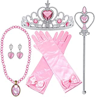 Orgrimmar Princess Dress Up Accessories Gloves Tiara Crown Wand Necklaces Presents for Kids Girls