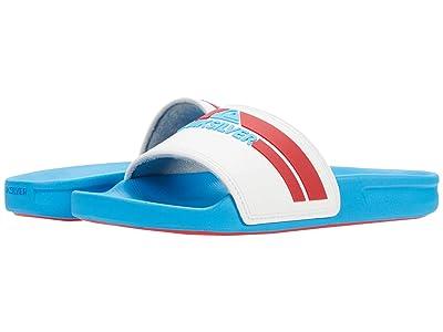 Quiksilver Kids Rivi Slide (Toddler/Little Kid/Big Kid) (White/Red/Blue) Boy