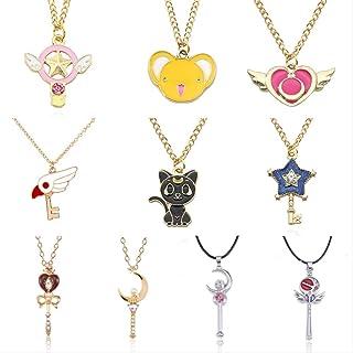 Sailor Moon Luna Chat Boucle d/'Oreille Charme Cirstal Pendentif Mode Bijou Fille