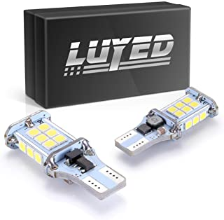 LUYED 2 X 1550 Lumens Extremely Bright Error Free 360-Degree Shine 921 912 W16W 3030 24-EX Chipsets LED Bulbs Used For Backup Reverse Lights, Xenon White