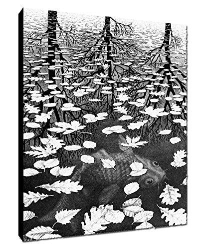 Quadro intelaiato Pronto da Appendere Escher 10 cm 50x70 Stampa su Tela Canvas Il Negozio di Alex