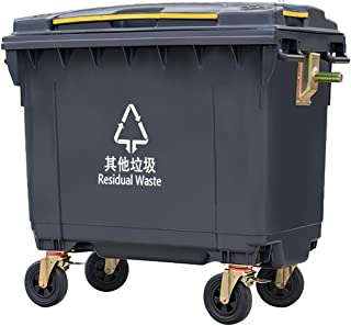 Grand camion à ordures d'assainissement 660L, camion à ordures de nettoyage extérieur en plastique, camion à ordures à pou...