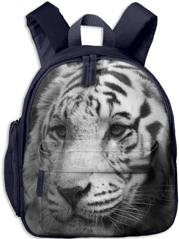 Weiß Tiger In Gaze Printing Kids Backpack Backpack Backpack Girl Kindergarten Bookbag Durable School Travel Bag B07Q2SWDRT  Attraktiv und langlebig 8860ec