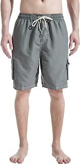 Mens Beach Board Shorts Swim Trunks with Cargo Pockets