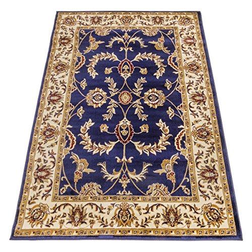 WEBTAPPETI.IT Tappeto Classico Ziegler Tappeto Disegno Orientale Blu Salon 716-BLU 70X300