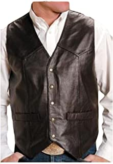 Roper Men`s Leather Vest Big and Tall - 02-075-0520-0701 Br