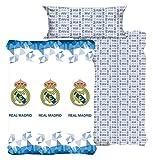 Gale Hayman Style Real Madrid Juego Sábanas, Algodón-Poliéster, Blanco, Queen, 200x150x3 cm