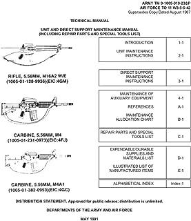 TM 9-1005-319-23&P M16A2 Maintenance and Repair Manual: May 1991