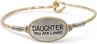 إلان تصميم ابنة أنت محبوب الذهب والفضي حجم واحد يناسب معظم سوار الإسورة مشبك