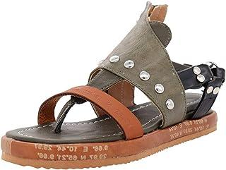 Wyxhkj dames sandalen, Romeinse vintage sandalen van kunstleer