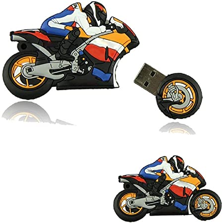 WooTeck 16GB 3D Cartoon Motorcycle USB Flash Drive Memory Stick Pendrive