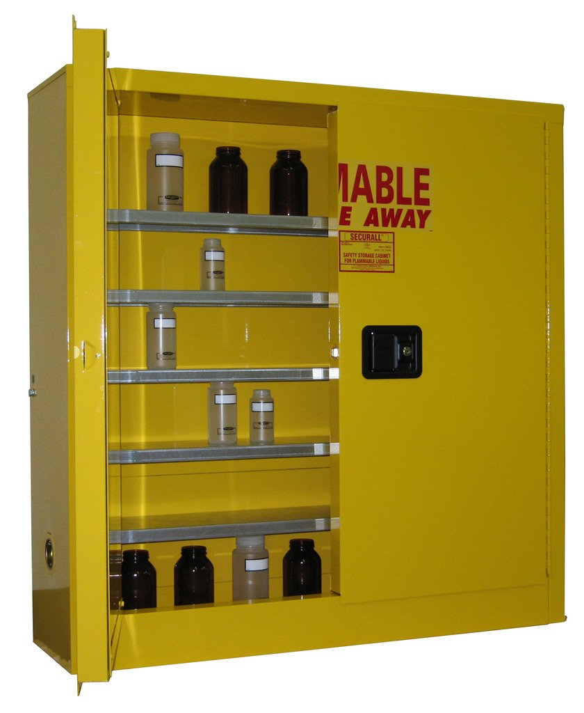 SECURALL WMA124 Wall-Mountable Dedication Flammable 18-Gau Storage Cabinet In stock