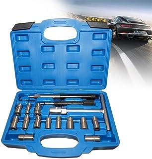 ZGYQGOO Jeu de 17 pièces Injecteurs Diesel Fraise à injecter Fraise à sceller Jeu de Surfaces d'étanchéité Siège à Outils ...