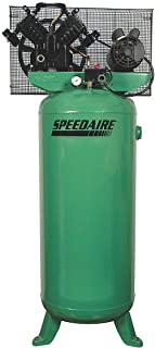 Speedaire 3 Phase Vertical Tank Mounted 5HP Electric Air Compressor, 60 gal, 140 psi - 4ME98